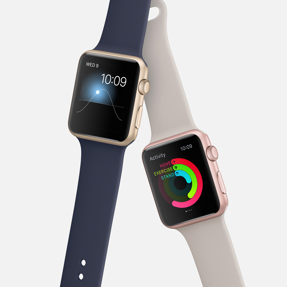 Apple Watch Sport - Rosegold & Gold