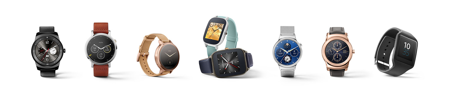 Android Wear - watch lineup