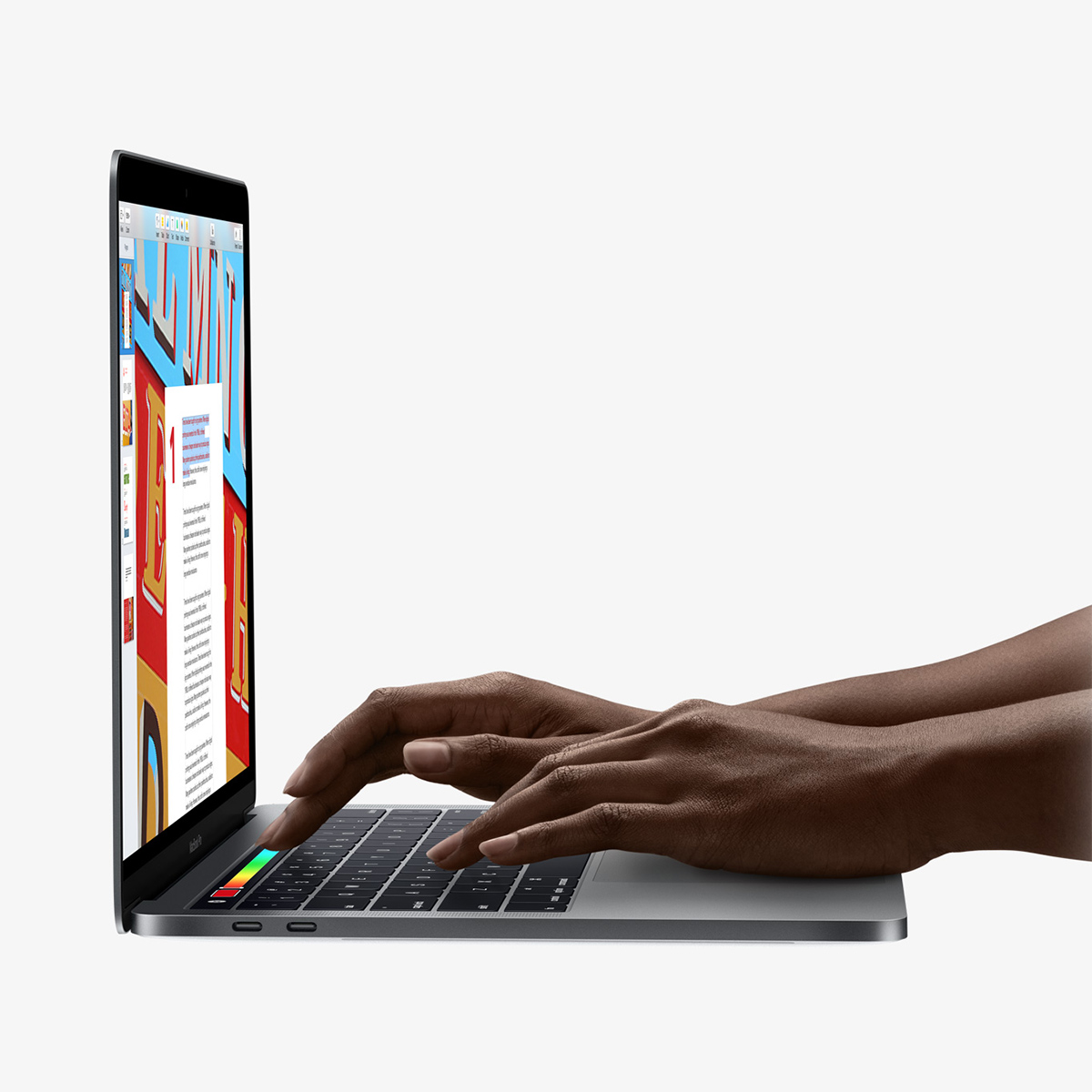 MacBook Pro 2016 - Touch Bar - Hands